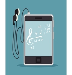 Music player isolated icon design vector