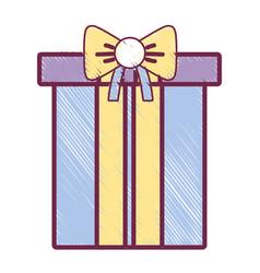 nice present gift to merry christmas celebration vector image
