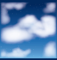 nightly background with cloud cumulus and starry vector image
