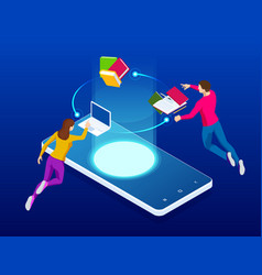 online education for website and mobile website vector image