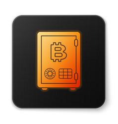 Orange glowing prostake icon isolated on vector
