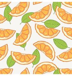 Orange slice seamless pattern vector image