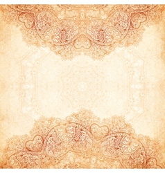 Ornate vintage background in mehndi style vector