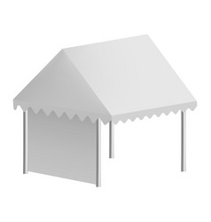 outdoor tent mockup realistic style vector image