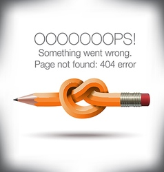 Pencil Knot 404 vector