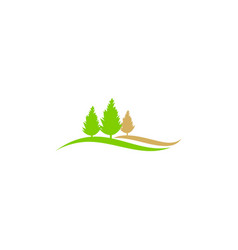 Pine tree nature landscape ecology logo vector