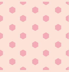 Pink hexagon shape repeating seamless pattern vector