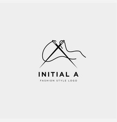 Premium a logo in gold color beautiful logotype vector