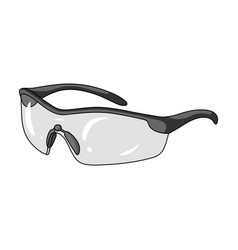 Protection for the eyes of cyclists from falling vector