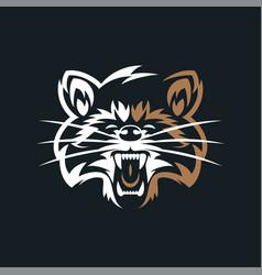 Raccoon vintage logo vector