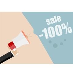 Sale Businessman hand holding a megaphone News vector image
