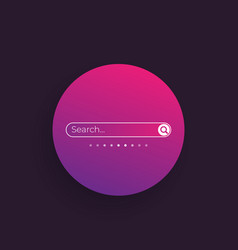 search bar design elements for ui vector image