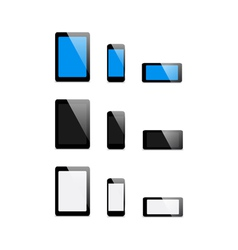 set mobile Devices - vector image