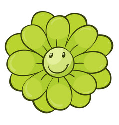 Single flower in green color vector