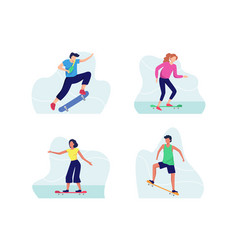 skateboarding concept vector image