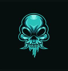 skull mucus vector image
