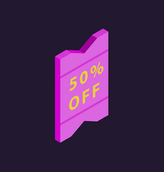 special offer sale tag isolated discount offer vector image