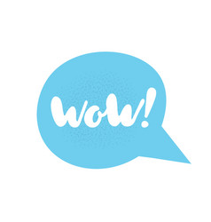 speech bubble phrase wow vector image