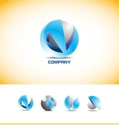 Sphere 3d logo design vector