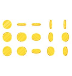 Sprite sheet gold coins rotation vector