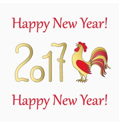 symbol rooster for year 2017 vector image vector image