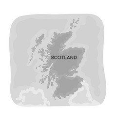 territory of scotland icon in monochrome style vector image