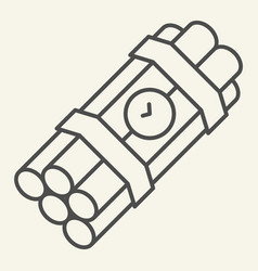 time bomb thin line icon dynamite vector image