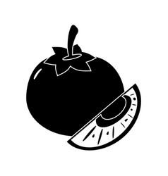 Tomato slice vegetable food fresh pictogram vector
