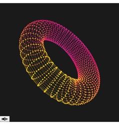 Torus Connection Structure vector image