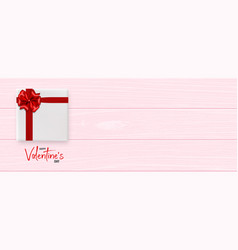 Valentines day wood 3d background vector