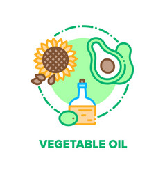 vegetable oil concept color vector image