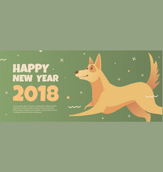 Web banner template with yellow dog vector