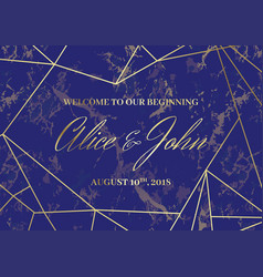 Wedding welcome sign poster geometric design vector
