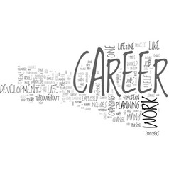 What is a career anyway text word cloud concept vector