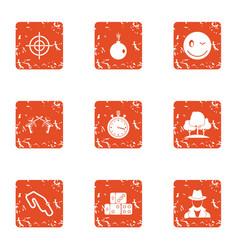 Whistleblower icons set grunge style vector