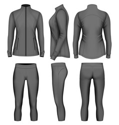 womens sport wear for run vector image vector image