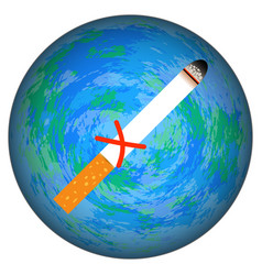 World no tobacco day the cigarette is crossed out vector