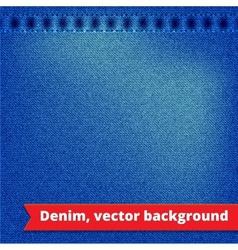 Blue Denim Texture Background vector image