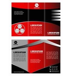 Brochure template folder leaflet vector image vector image