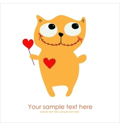 Cute Monster Card vector image