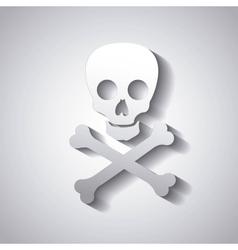 danger caution skull vector image vector image