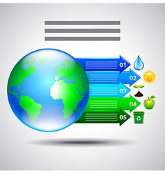 Environment inforgaphics Earth and arrows with vector image vector image