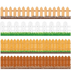 seamless fences collection vector image vector image