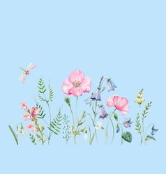 watercolor floral composition vector image vector image