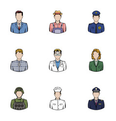 work icons set cartoon style vector image vector image