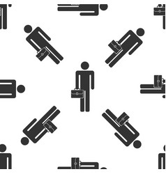 businessman man with briefcase seamless pattern vector image