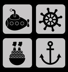 maritime icons vector image vector image