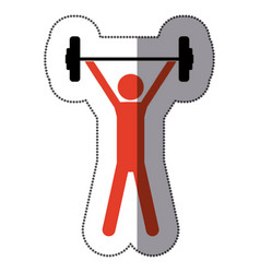 people man lifting weights icon vector image