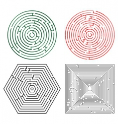 printable mazes collection vector image