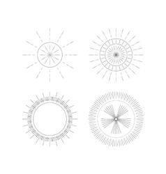 a set Ray Monogram vector image vector image